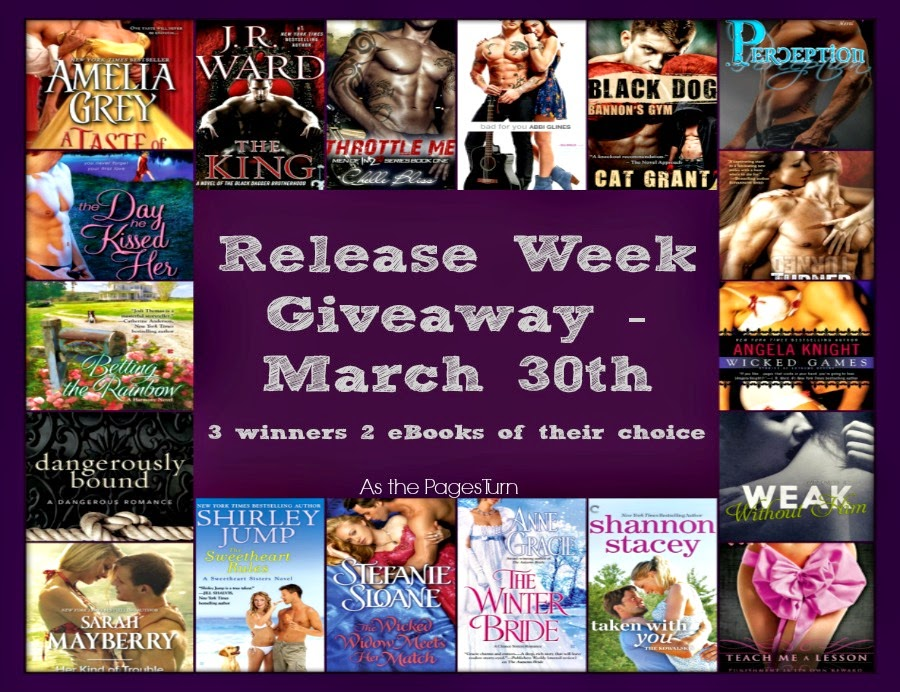 Giveaway – New Release Week of March 30th