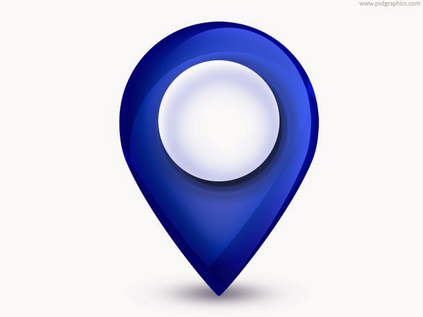 Map Pointer Icon PSD