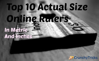 Actual Size Online Rulers