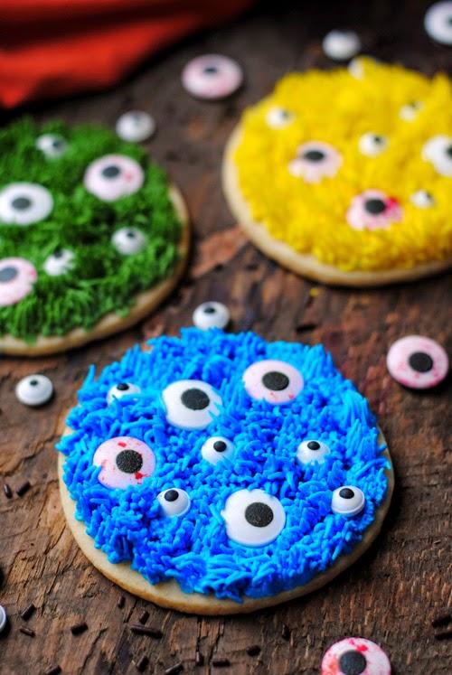 Monster Halloween Cookies: Leanne Bakes: Halloween Monster Cookies