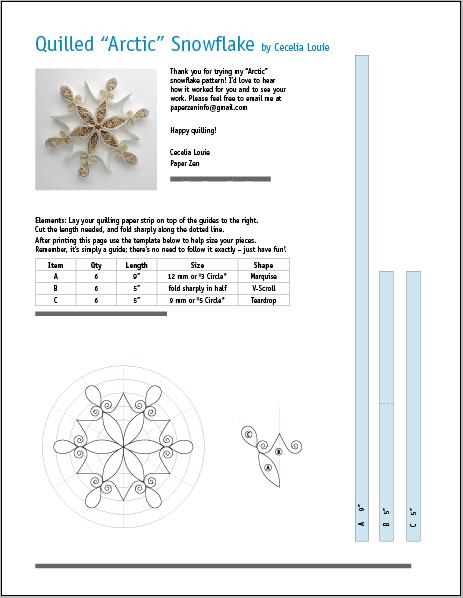 snowflakes templates pdf