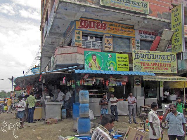 street corner in India
