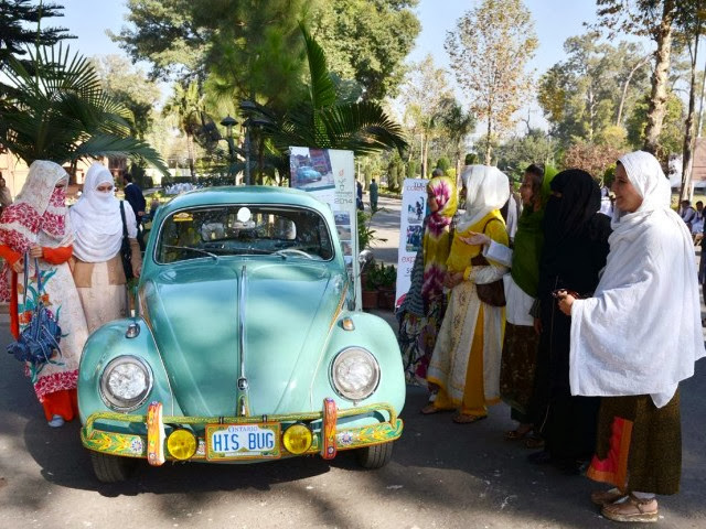 Old car festival and exhibition in Pakistan