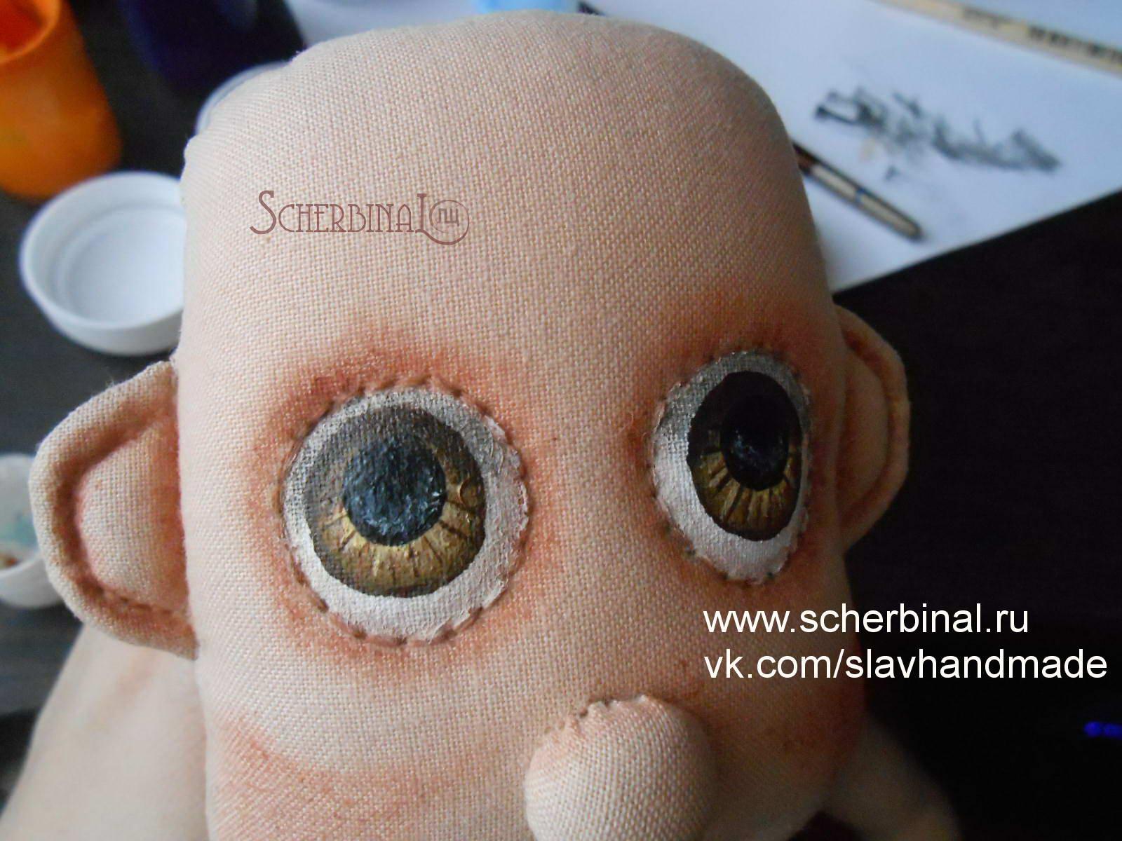 Роспись лица текстильной куклы, мастер-класс