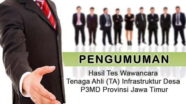 Tenaga Ahli (TA) Infrastruktur Desa P3MD
