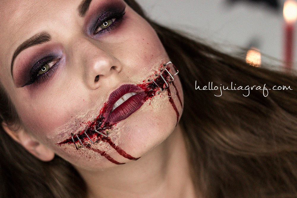 modified the classic chelsea grin to make it look like the sides of ...