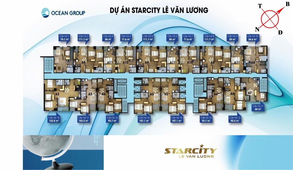 Sơ đồ mặt bằng căn hộ Starcity