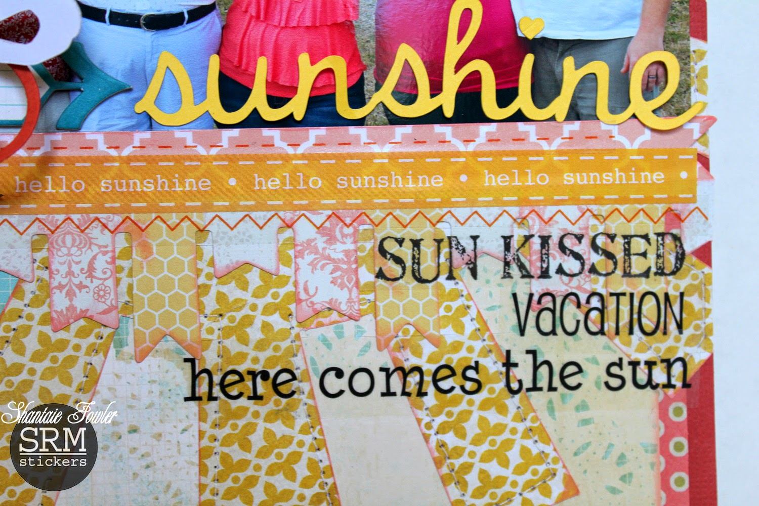 SRM Stickers Blog - Summer Layout by Shantaie - #layout #stickers #summer