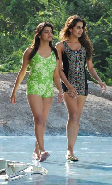 South Hot Sanjana and Thashu Spicy Bikini Shoot in Dussasana glamour images