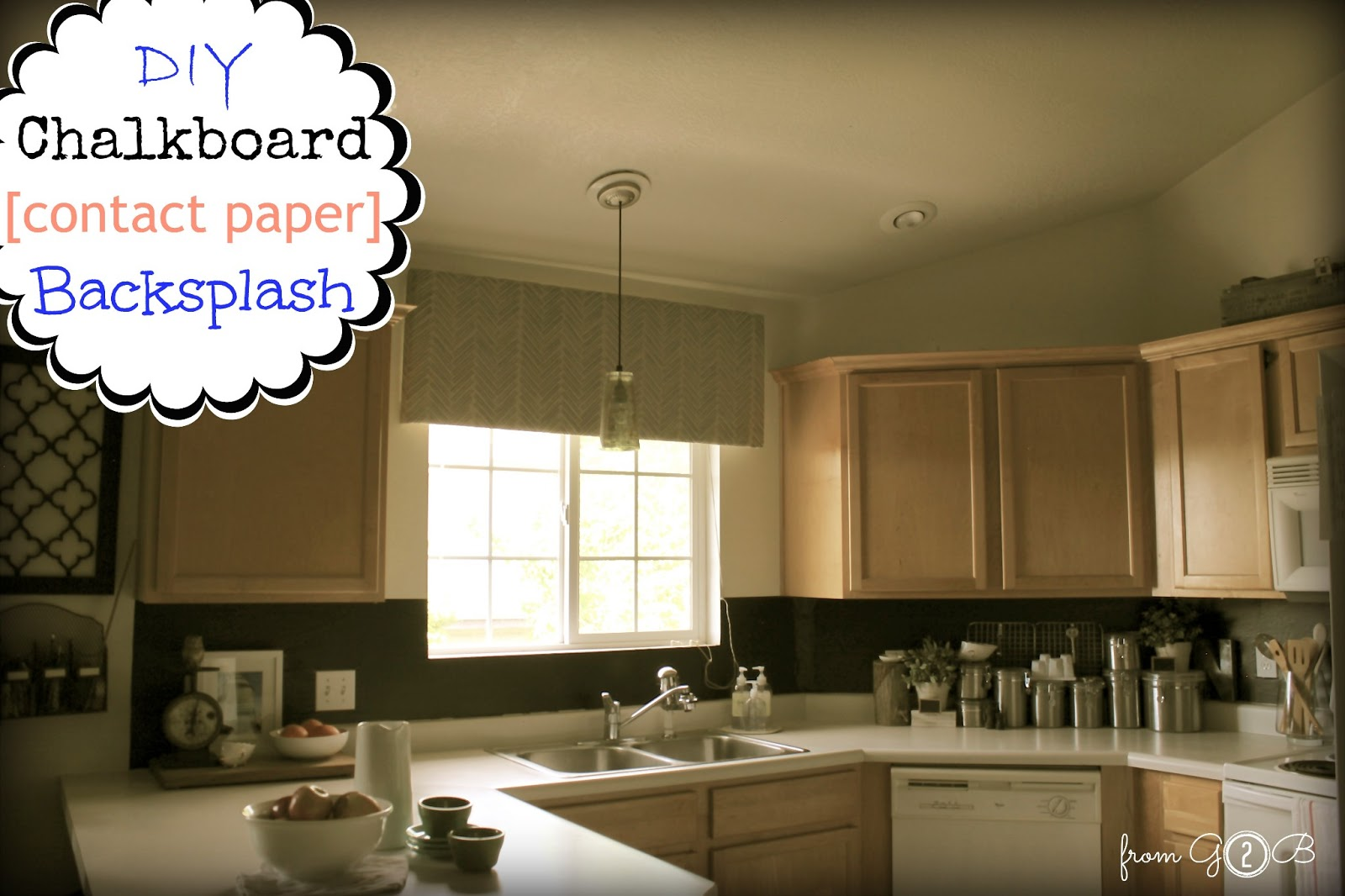 DIY Chalkboard 《Contact Paper》 Backsplash ➹