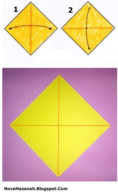 origami harimau untuk anak-anak