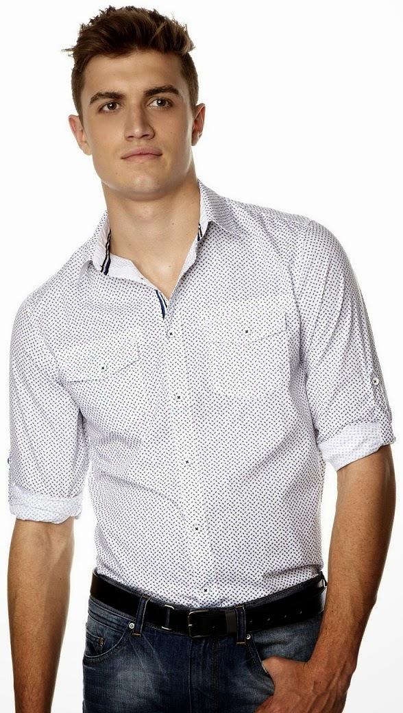 Celio spring summer collection 2014 spotted cotton shirt