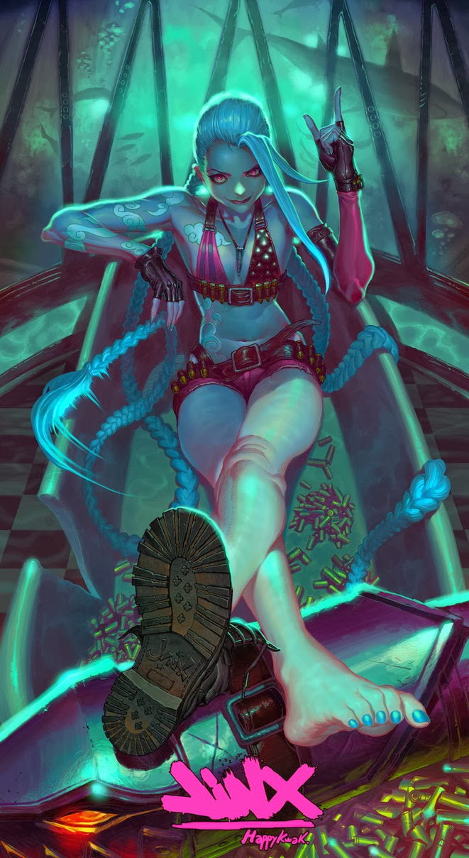 jinx fanart league of legends