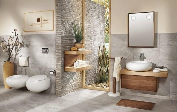 Bambu Baño Feng Shui:Marzua: Cuartos de baño de estilo oriental