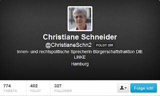 Twitter-Account Christiane Schneider (Die LINKE.)