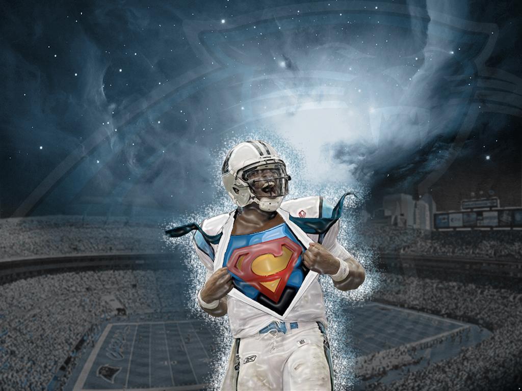 Cam newton wallpaper superman