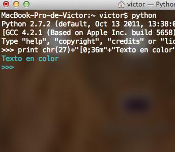 Terminal Colorida En Python