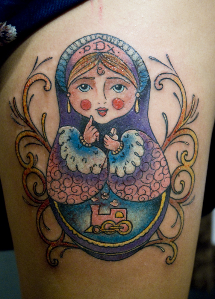 Her babushka tattoos for Not of this world tattoo