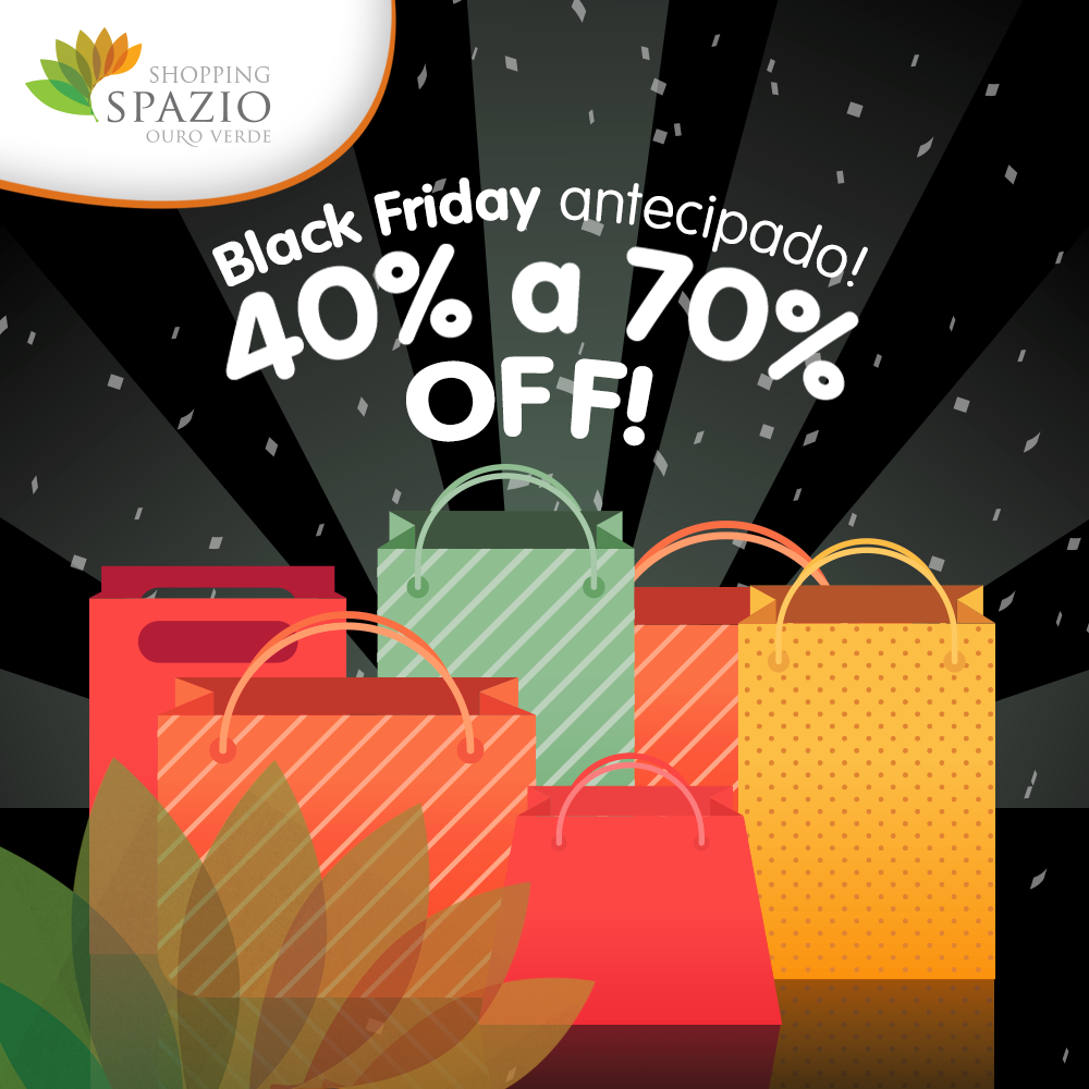Com mais de dez dias de promoções, o shopping terá produtos em diversas  lojas com 40% a 70% de desconto. 3732ed25ea