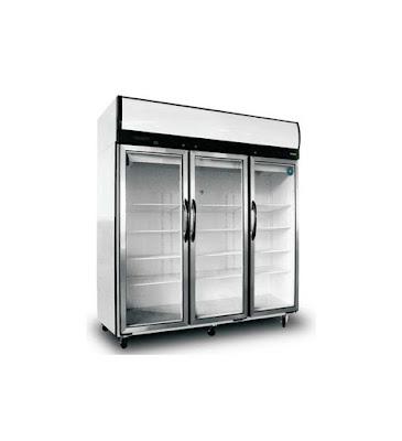 Three Glass Doors Three Sections - Upright Refrigerator