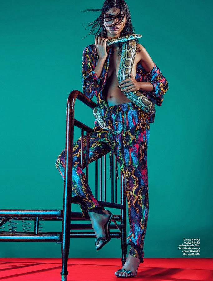 Carolinne Prates HQ Pictures Elle Brazil Magazine Photoshoot February 2014