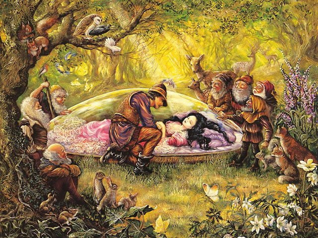 josephine wall fantasy painting snow white