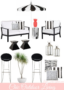 Chic In Black and White Outdoor Living.