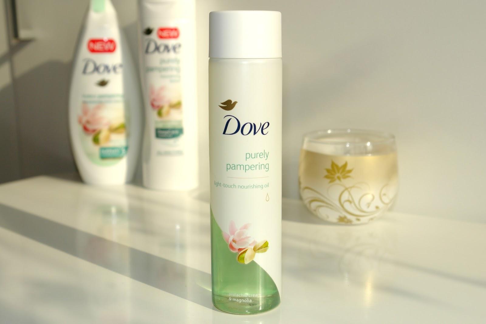 New Dove Body Oil in Pistachio Cream & Magnolia, Dove, review, beauty, body care, blogger