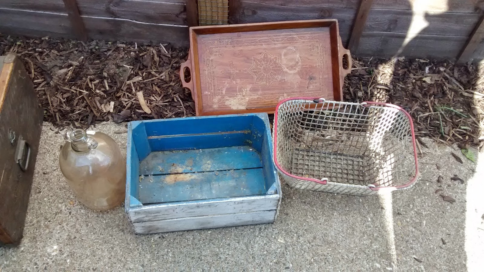 Vintage Decorative and storage items found in a skip