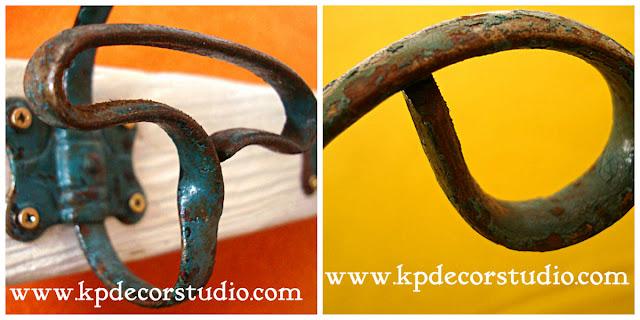 Comprar perchero de forja antiguo. Percheros vintage. Madera, hierro, original