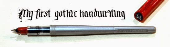 My first gothic handwriting