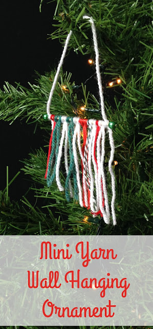 Mini yarn wall hanging Christmas Tree Ornaments