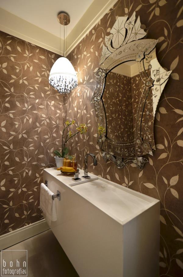 Construindo Minha Casa Clean BanheirosLavabos Modernos com Pendentes de Cri -> Cuba Para Banheiro Cristal