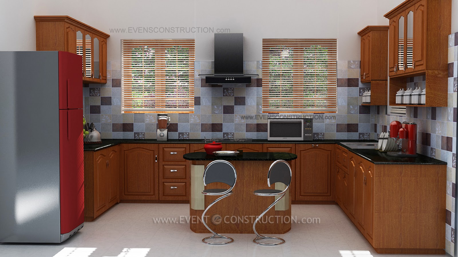 Evens construction pvt ltd november 2014 for Kitchen design kerala