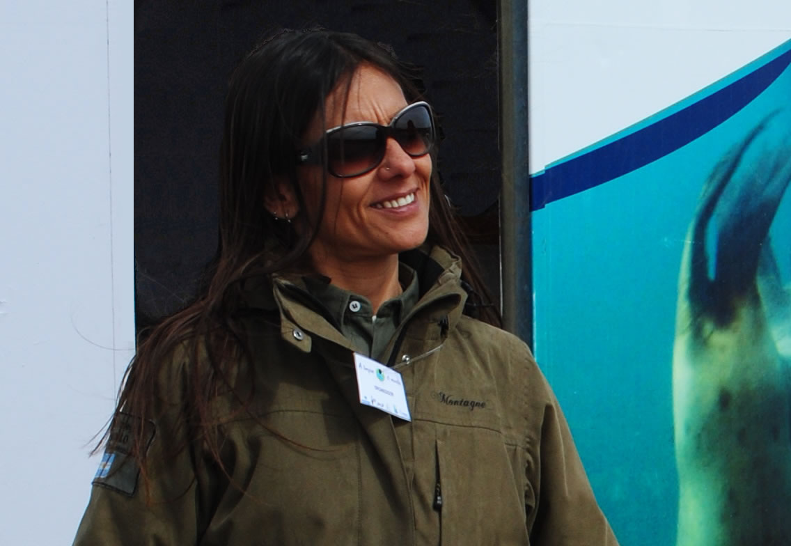 María Cabrera is the head of Conservation of the Protected Natural Area El Doradillo