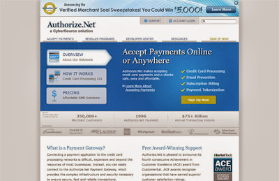 Authorized Dot Net Payment gateway