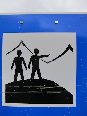 Tourist attraction sign, Iceland
