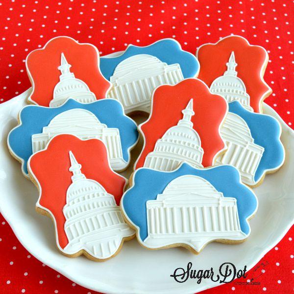 Sugar Dot Cookies: Washington, DC Sugar Cookies