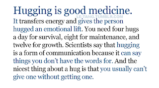 hugging is good medicine quote and saying about life