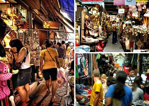 mua sắm ở chợ Chatuchak ở Thái Lan