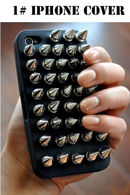 studded iphone cover, studded diy, studs diy