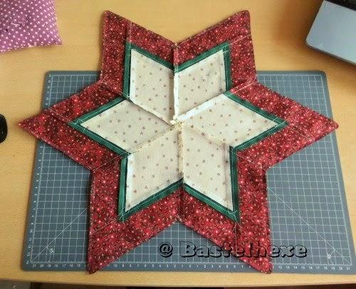 Sterne Nähen : Vorderseite und Rückseite des Sterns werden nun ...