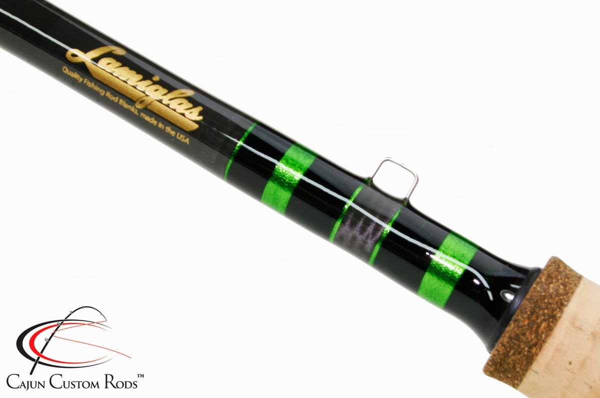 Cajun custom rods inshore snook spinning rod for Personalized fishing pole