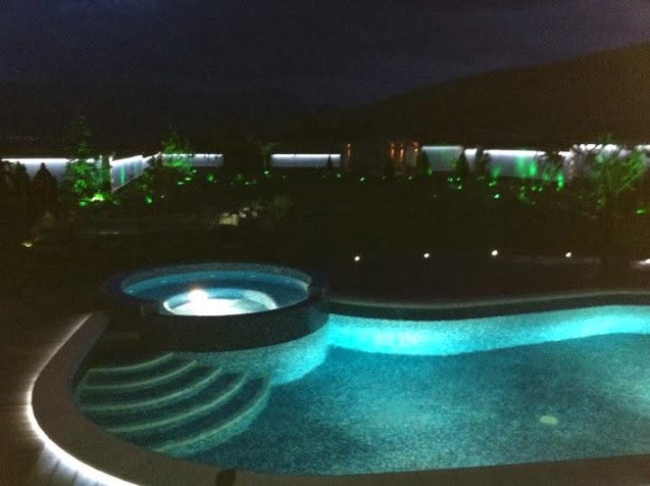 Басейн нощно осветление 4