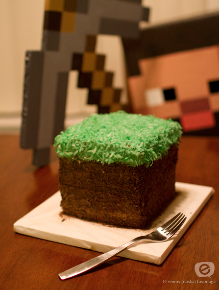 Minecraft Block Cake Images : Be Different...Act Normal: Minecraft Birthday Cake [Dirt ...