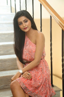 Actress Avanthika  Pictures in Pink Short Dress at Maaya Movie Logo Launch  26.jpg