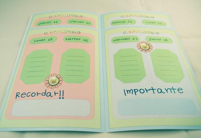 plantilla agenda personalizada