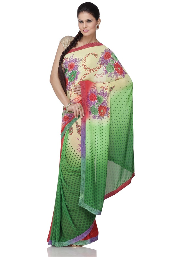 Pistachio Green Net Saree