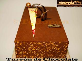 Turrón de chocolate con almendra caramelizada