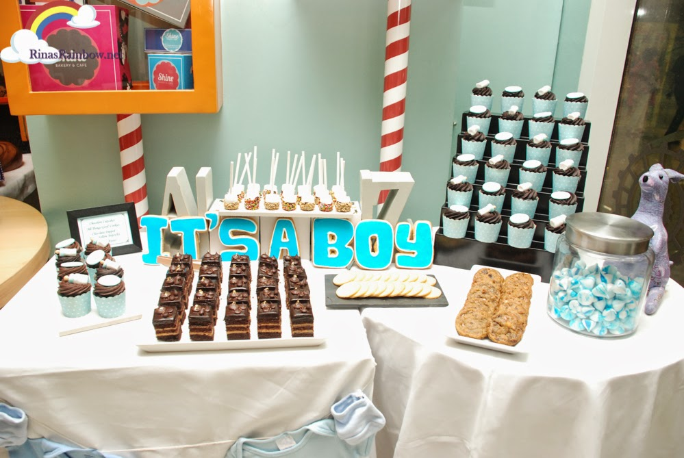 baby boy dessert station
